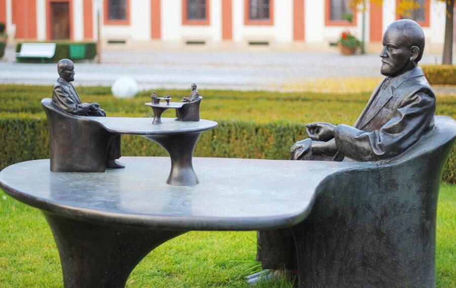 Статуя Зигмунд Фрейд в Праге