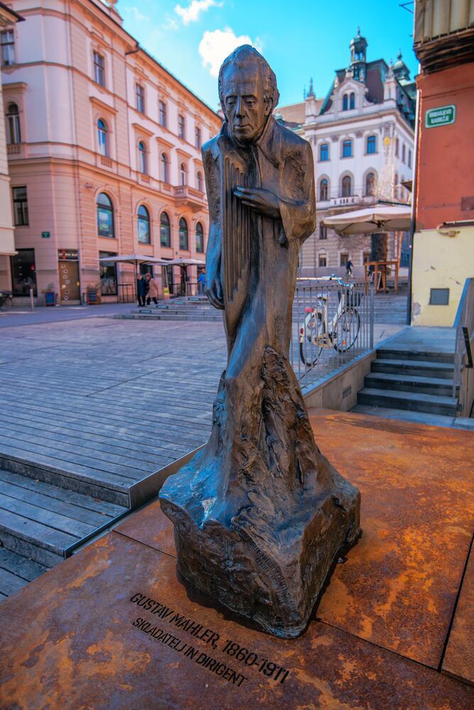 Густав Малер, статуя в Любляне