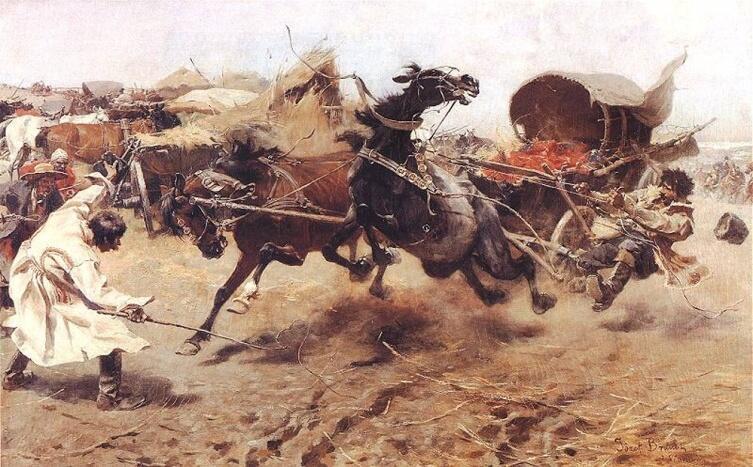 Ю. Брандт, «Кони понесли»