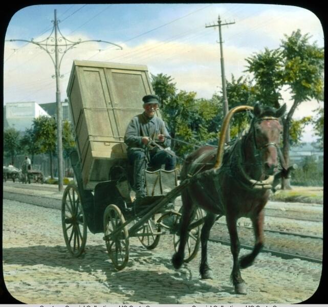 Извозчик на Старомынке, Москва, 1931 г.