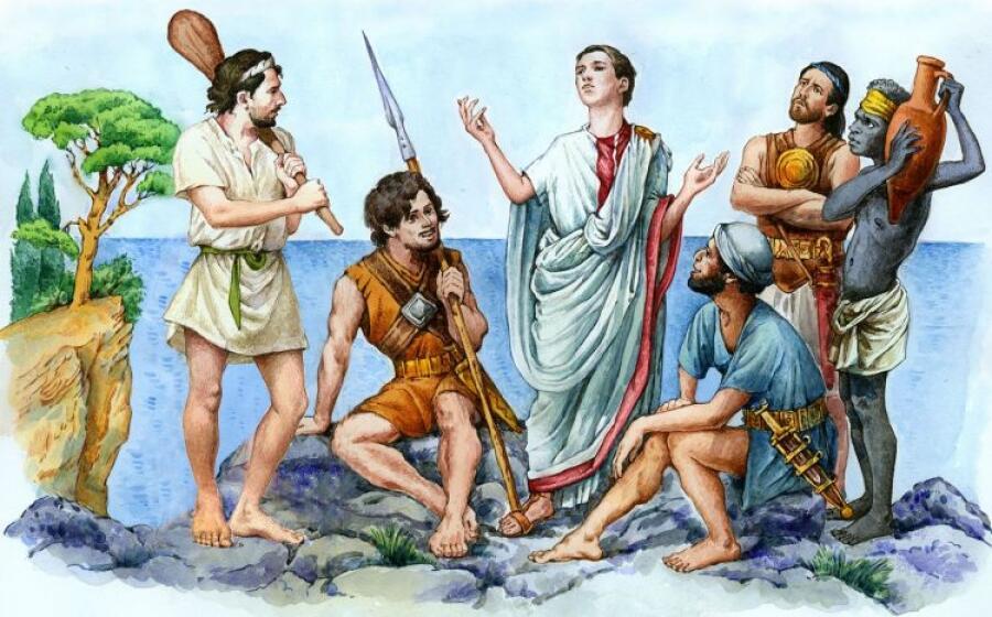 Современный художник, «Юлий Цезарь в плену у пиратов»