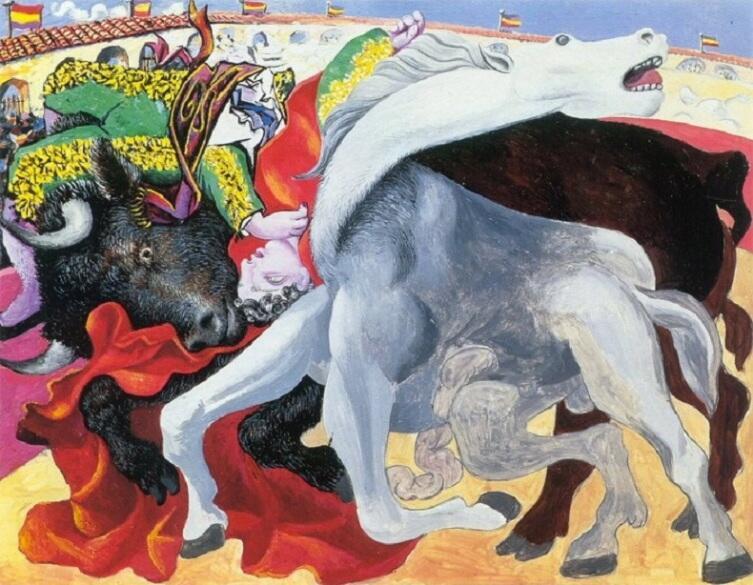 Пабло Пикассо, «Коррида- смерть матадора», 1933 г.