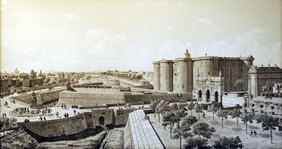 Бастилия перед революцией