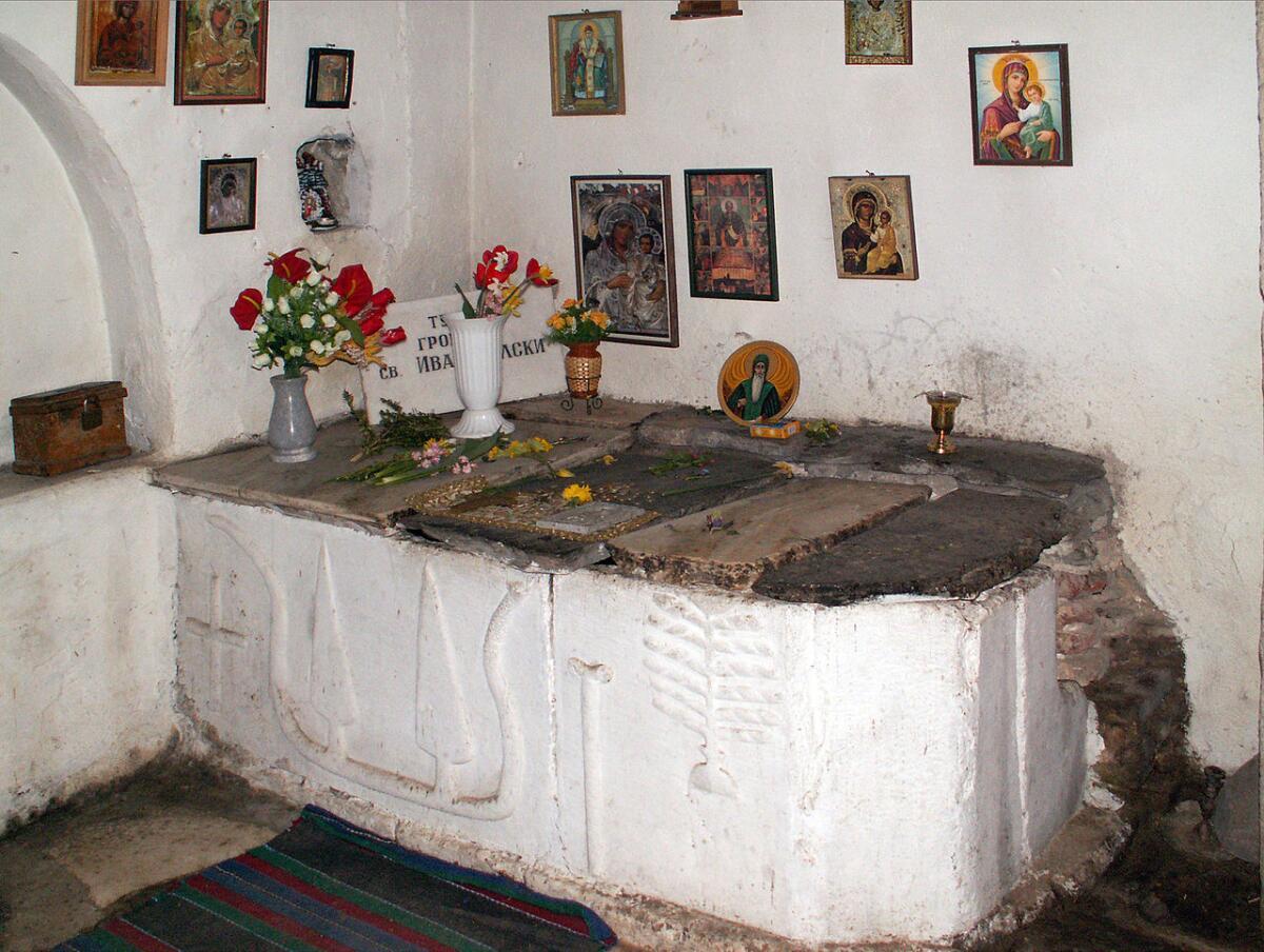 Могила Иоанна Рильского в монастыре