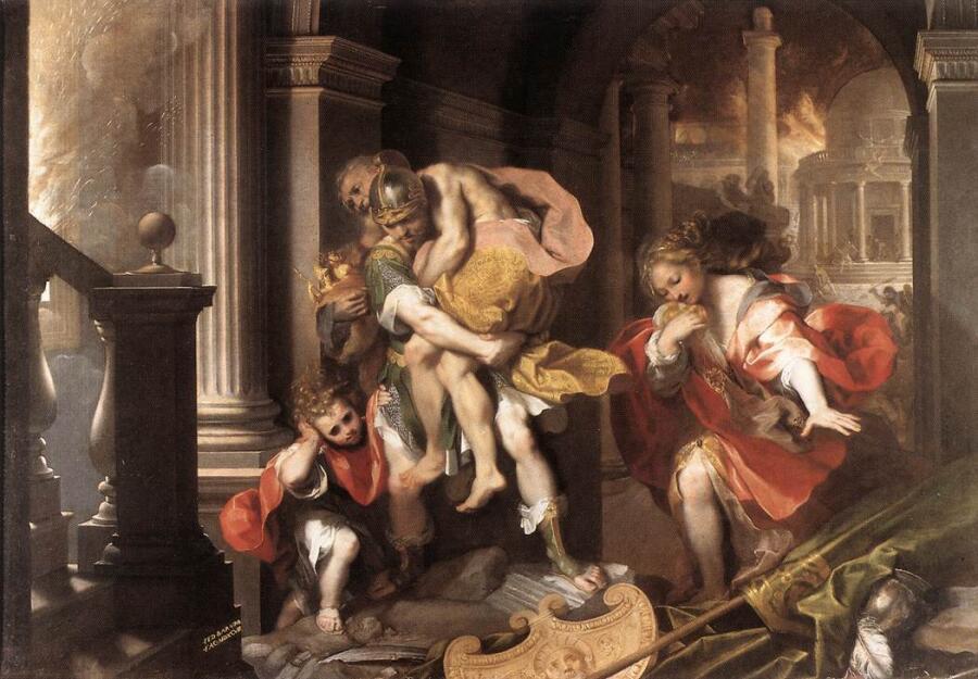 Федерико Бароччи, «Бегство Энея из Трои»