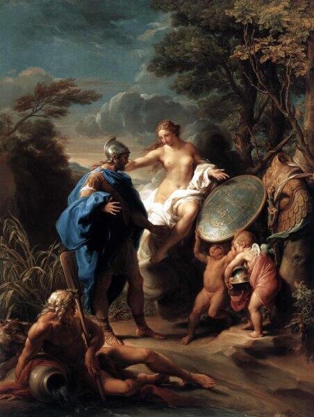 Помпео Джироламо Батони, «Венера, дарящая Энею доспехи, изготовленные Вулканом»