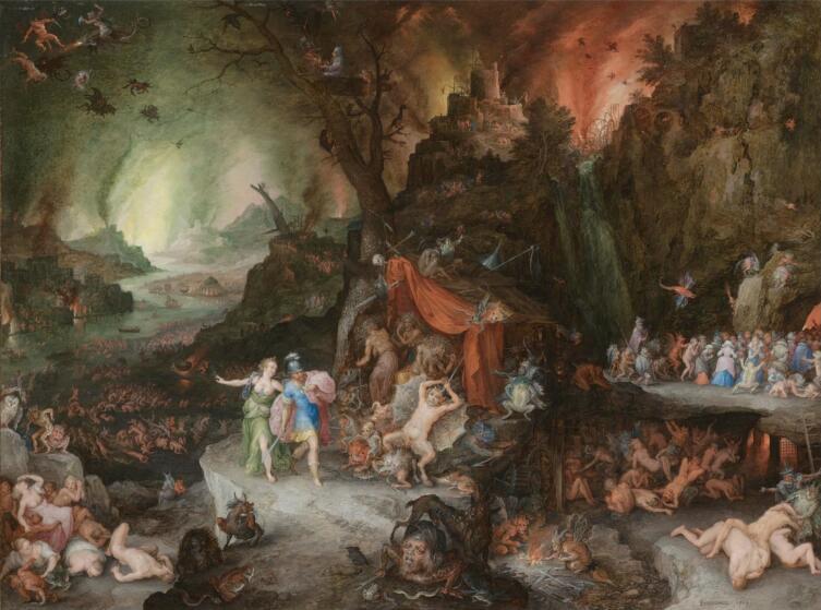 Ян Брейгель Младший, «Эней и Сивилла в аду», 1630 г.