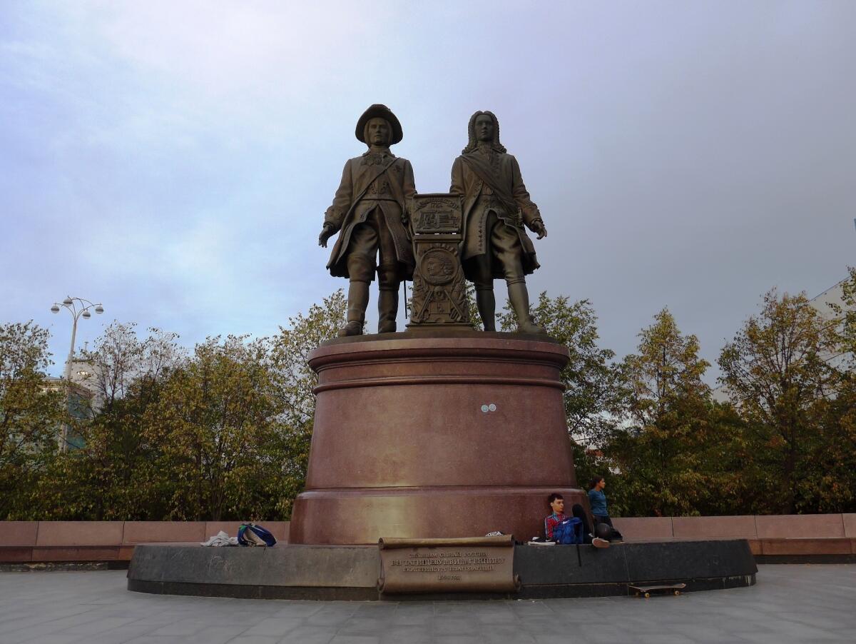 Памятник Василию Татищеву и Вильгельму де Геннину, Екатеринбург