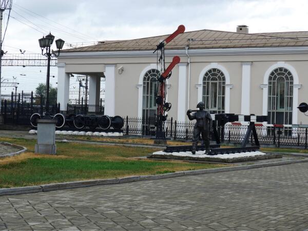 Музей Свердловской железной дороги у старого вокзала
