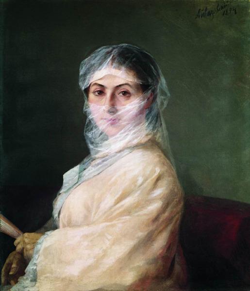 Портрет Анны Саркисовой-Бурназян. И.К. Айвазовский, 1882.