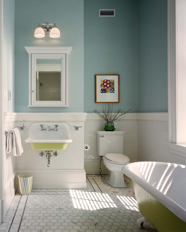 Фото покрашеной ванной комнаты роспись интерьера ванных комнат