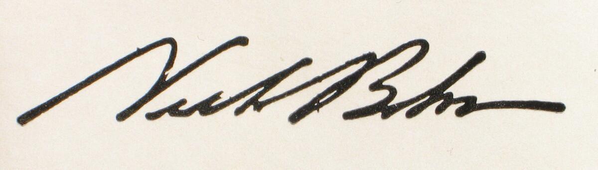 Автограф Нильса Бора, книга «Нильс Бор»