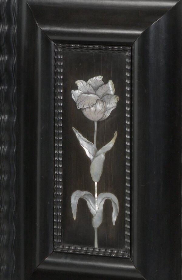 Шкаф работы Германа Думера, фрагмент «Инкрустация перламутром»
