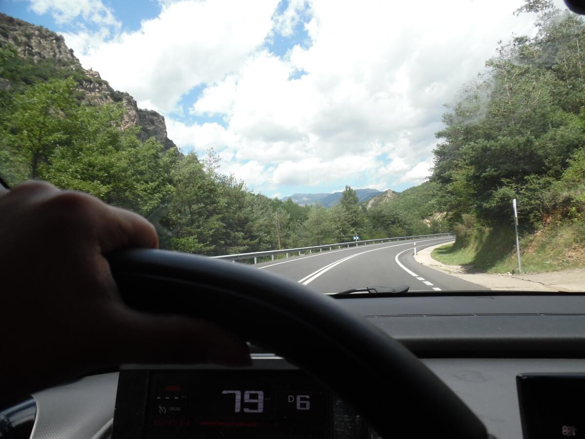 Дорога в глубь Восточных Пиренеев