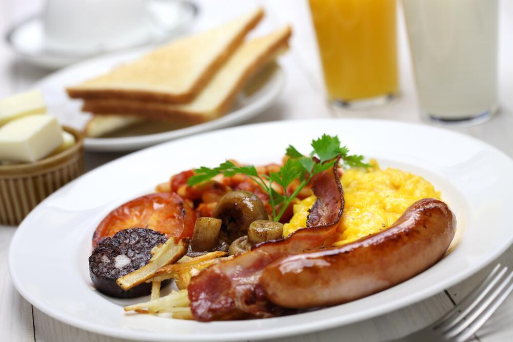Полный английский завтрак, «островной»