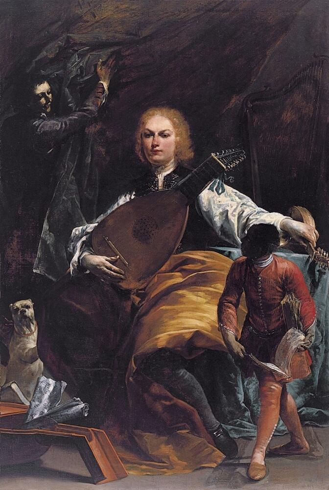 Джузеппе Креспи, «Портрет графа Фульвио Грати», 1720г.
