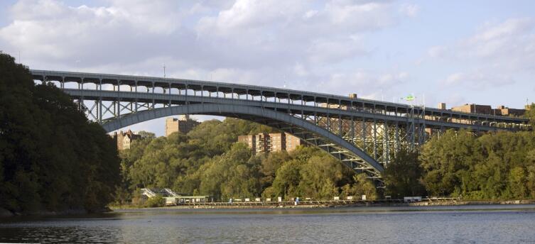 Мост Генри Гудзона в Нью-Йорке