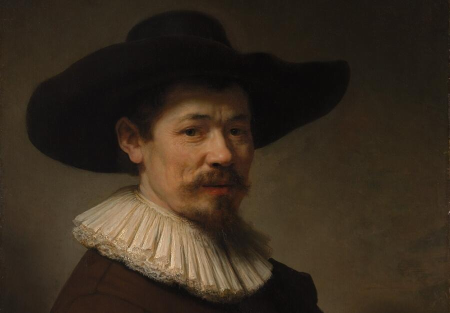 Рембрандт ван Рейн, «Портрет Германа Думера», фрагмент, 1640г.