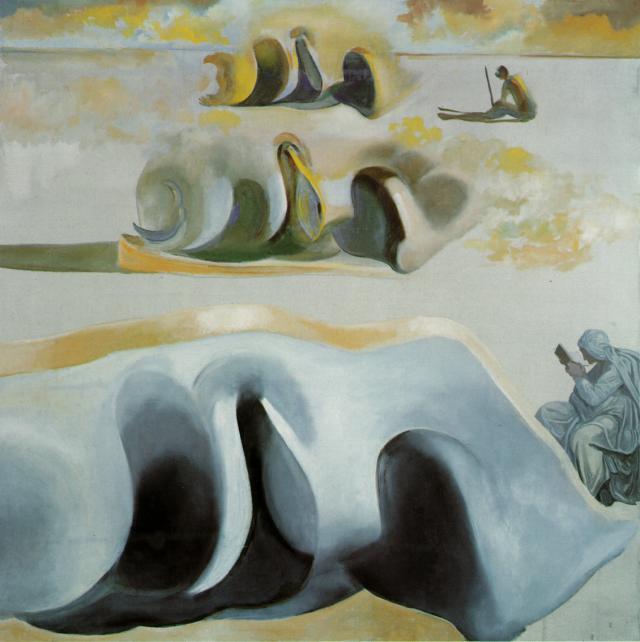 Сальвадор Дали, «Три знаменитые загадки Гала», 1982г.