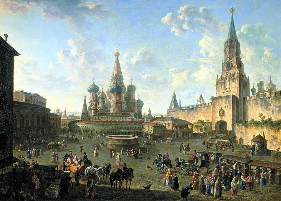 Ф. Я. Алексеев, «Красная площадь в Москве», 1801г.