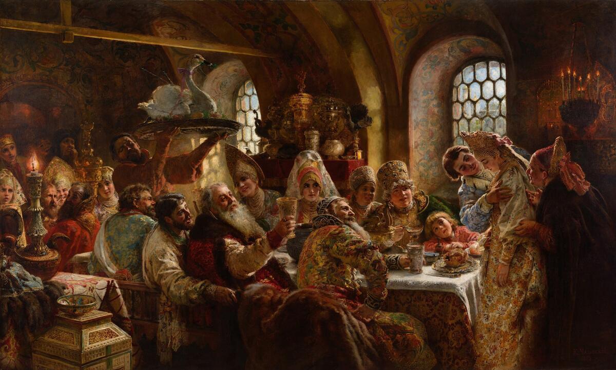 Первая брачная ночь знатных и родовитых людей допетровской эпохи
