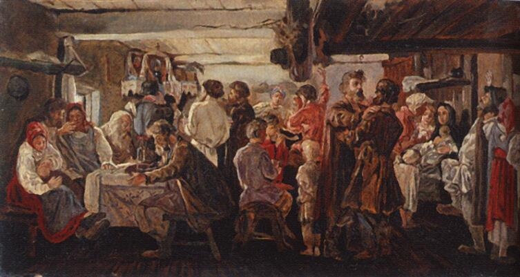 А. П. Рябушкин, «Крестьянская свадьба», 1880 г.