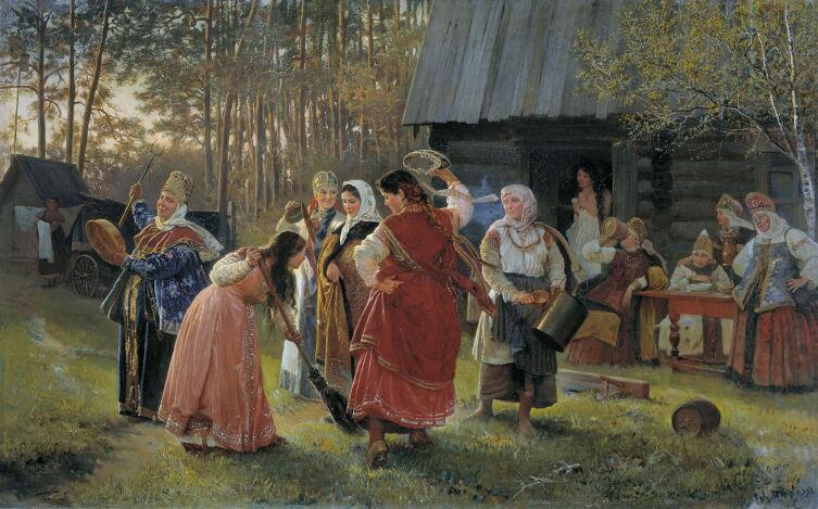 А. И. Корзухин, «Девичник», 1889 г.