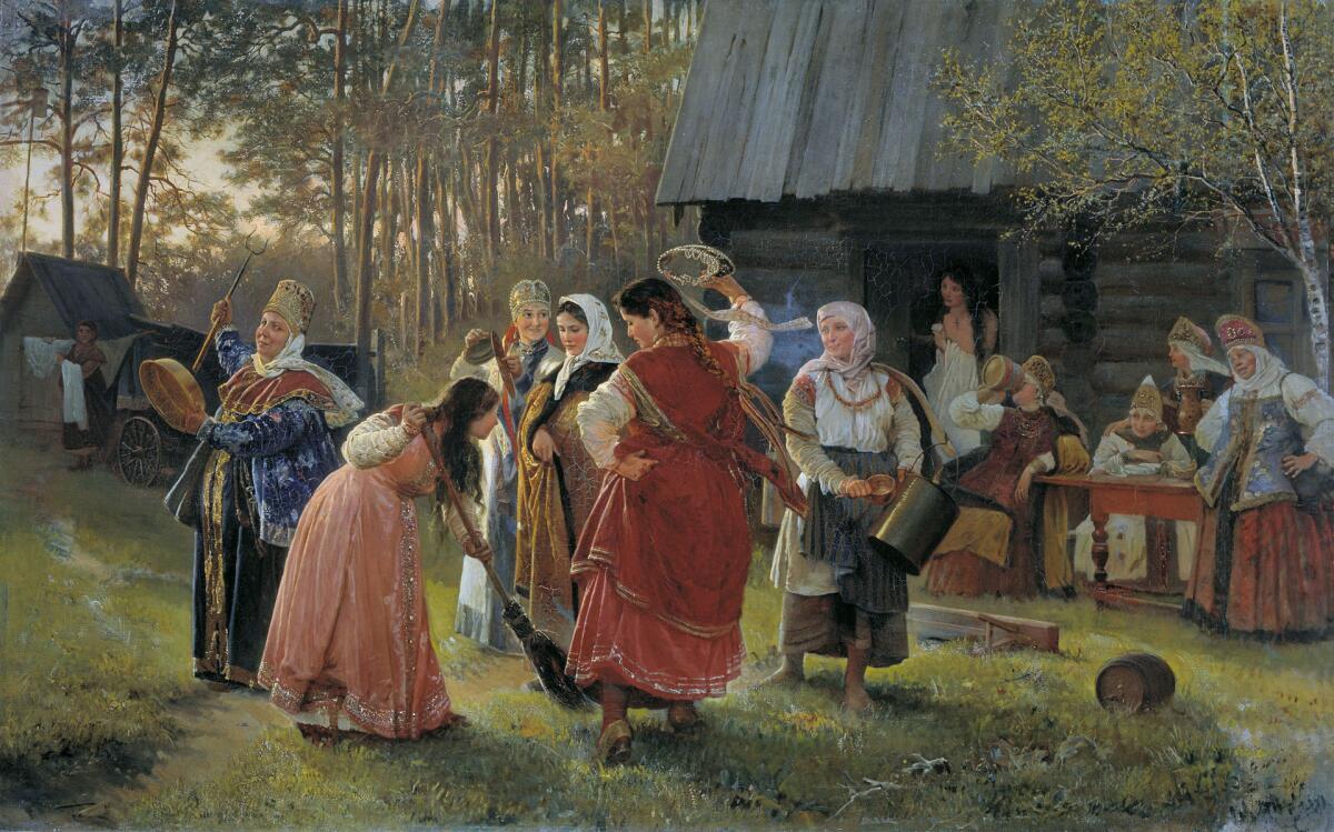 А. И. Корзухин, «Девичник», 1889г.