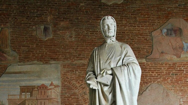 Памятник Фибоначчи в Пизе