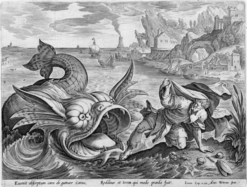 Кит извергает Иону на сушу