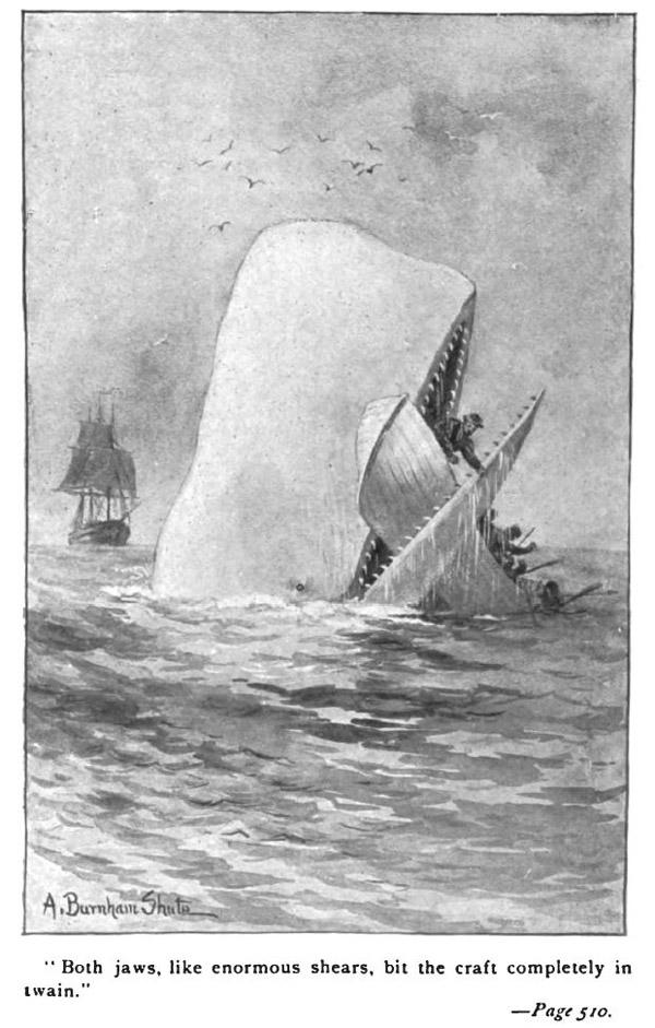 Иллюстрация к роману Г.Мелвилла «Моби Дик» из издания 1892г.