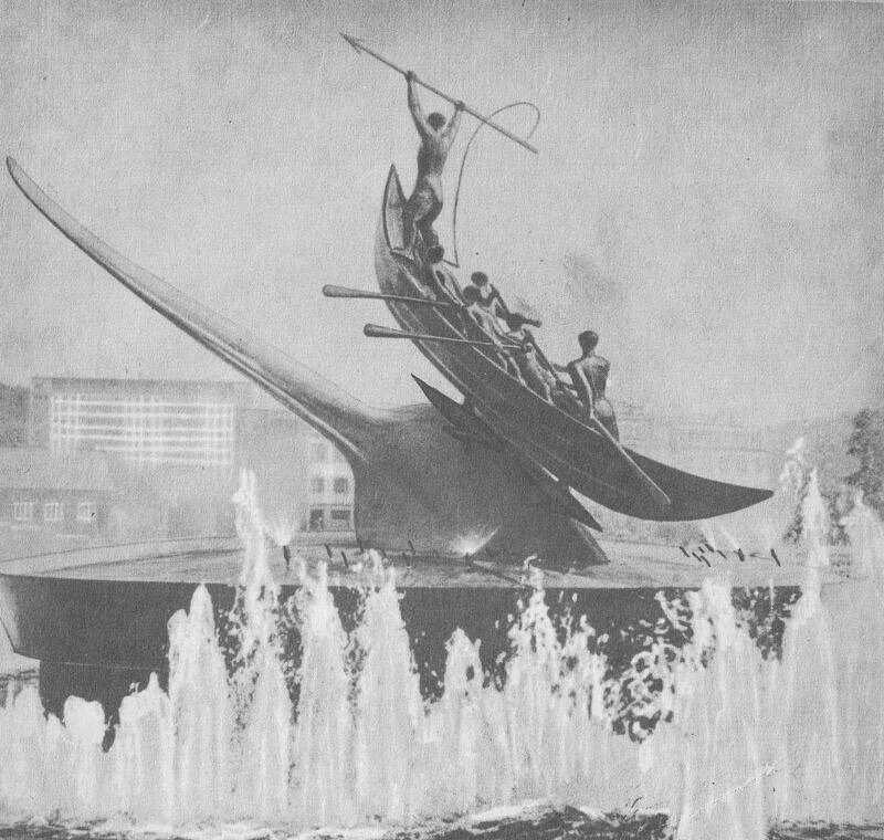 Памятник китобоям в норвежском Сандефьорде