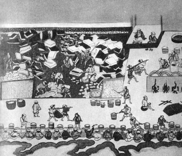 Старинная японская жироварная фабрика