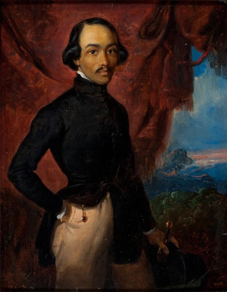 Раден Салех, «Автопортрет», 1841г.