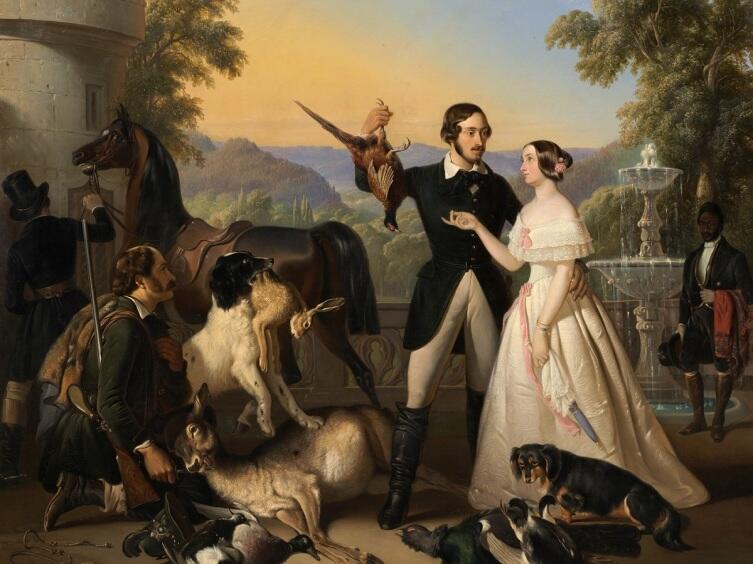 Раден Салех, «Эрнст II и Александрина Саксен-Кобург и Гота», 1844 г.
