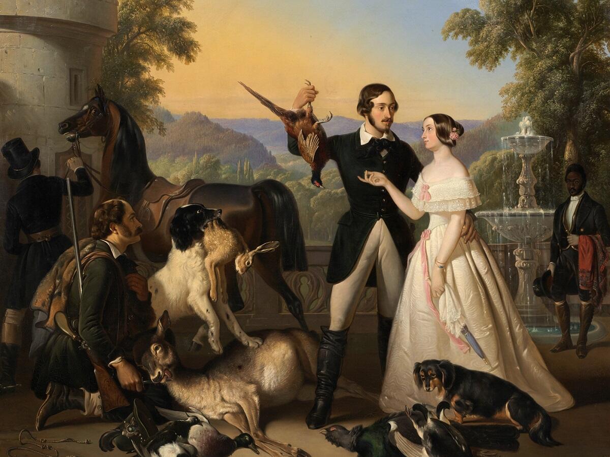 Раден Салех, «ЭрнстII и Александрина Саксен-Кобург и Гота», 1844г.