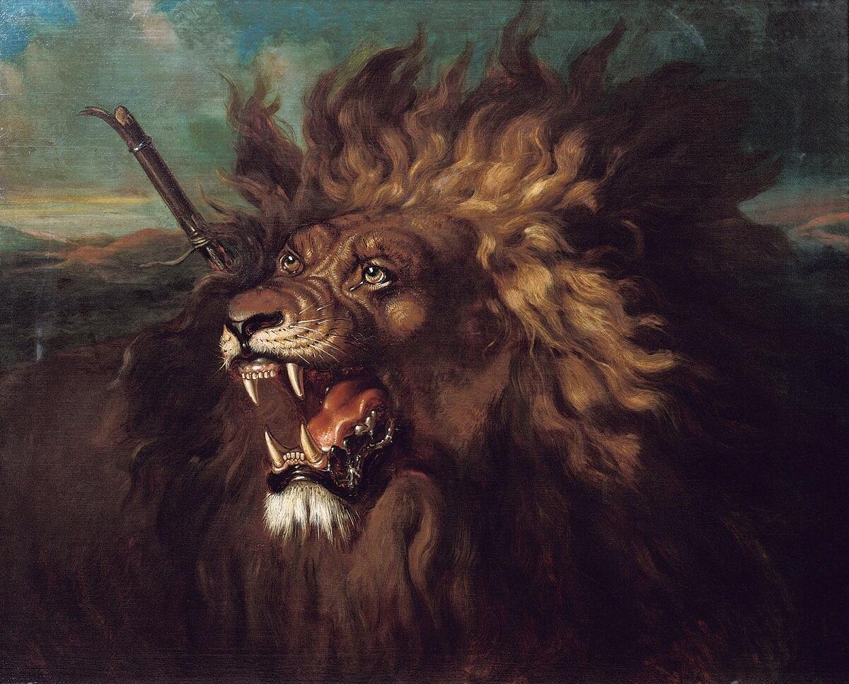 Раден Салех, «Раненый лев», 1839г.