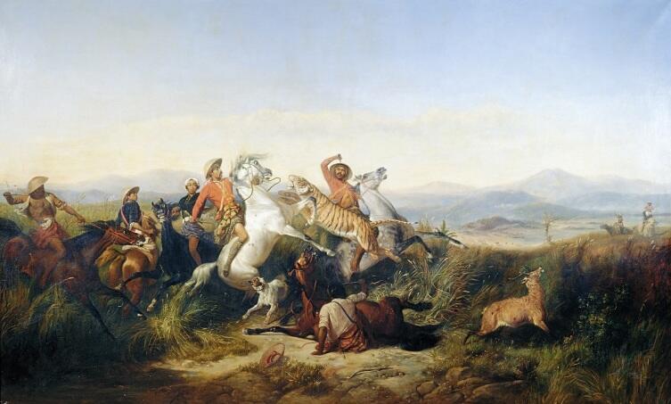Раден Салех, «Оленья охота на Яве»