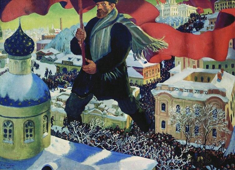 Б. М. Кустодиев, «Большевик», 1920 г.