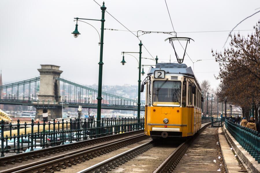 Ретро трамвай в Будапеште