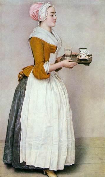 Жан-Этьен Лиотар, «Прекрасная шоколадница», ок. 1743—45 гг.
