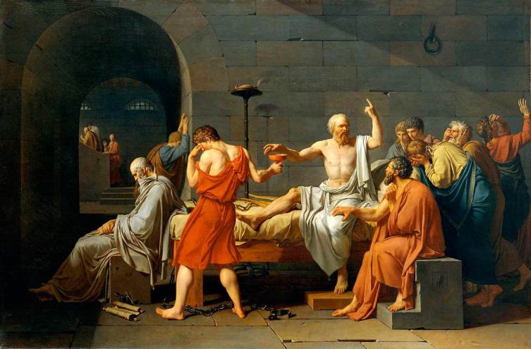 Жак-Луи Давид, «Смерть Сократа»