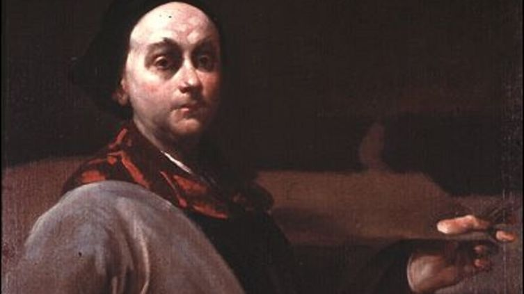 Джузеппе Креспи, «Автопортрет», фрагмент