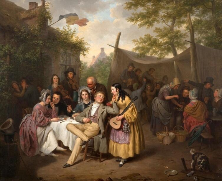 Базиль де Луз, «Праздник в деревне», 1838г.