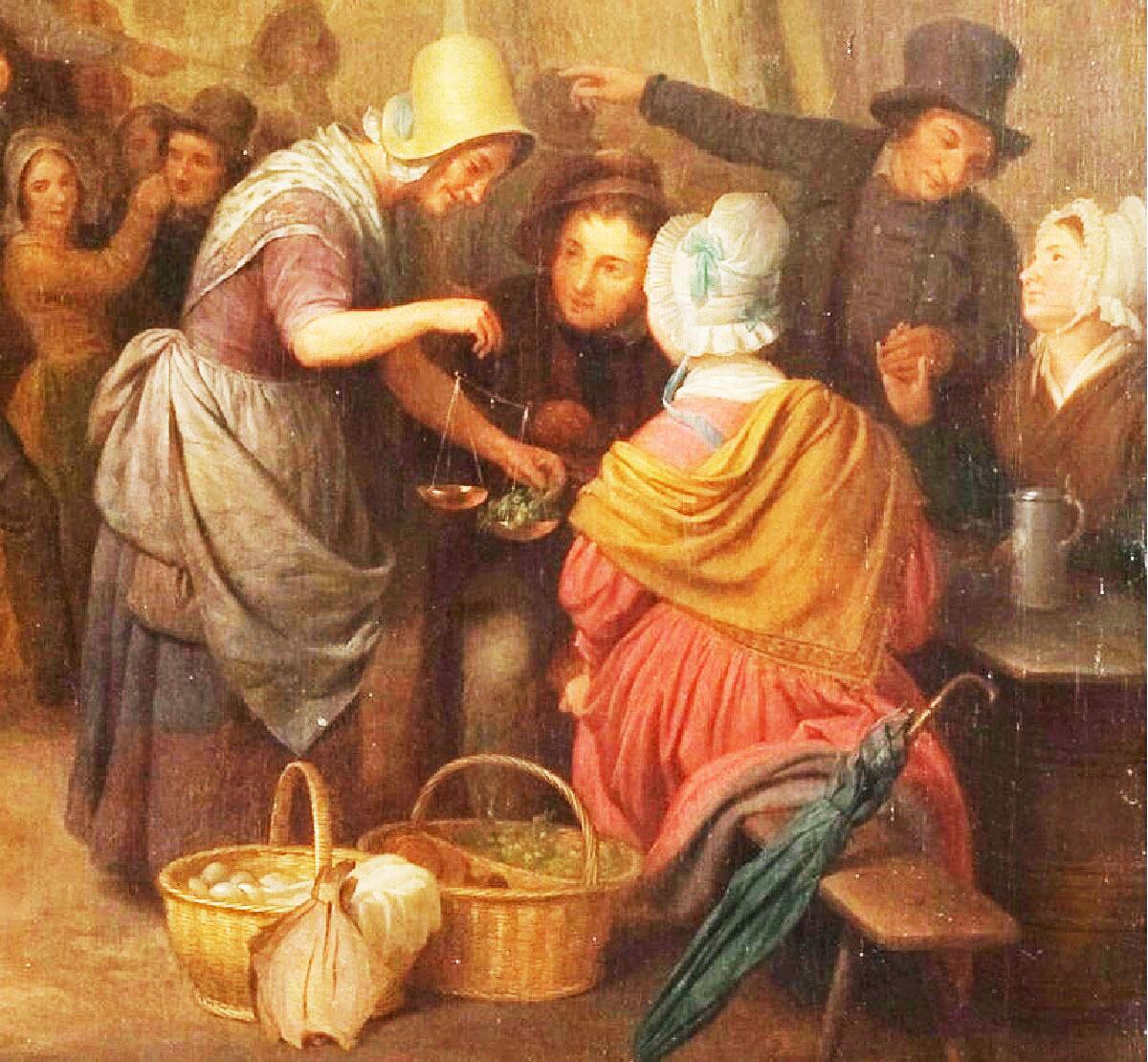 Базиль де Луз, «Праздник в деревне», фрагмент «Угощение и приглашение к танцу»