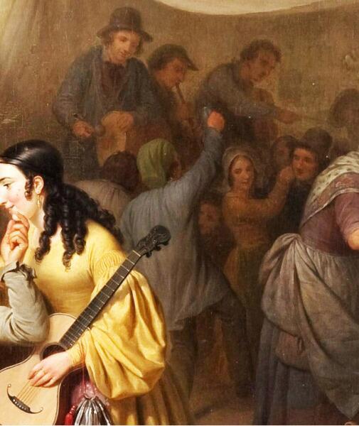 Базиль де Луз, «Праздник в деревне», фрагмент «Оркестр и танцы»