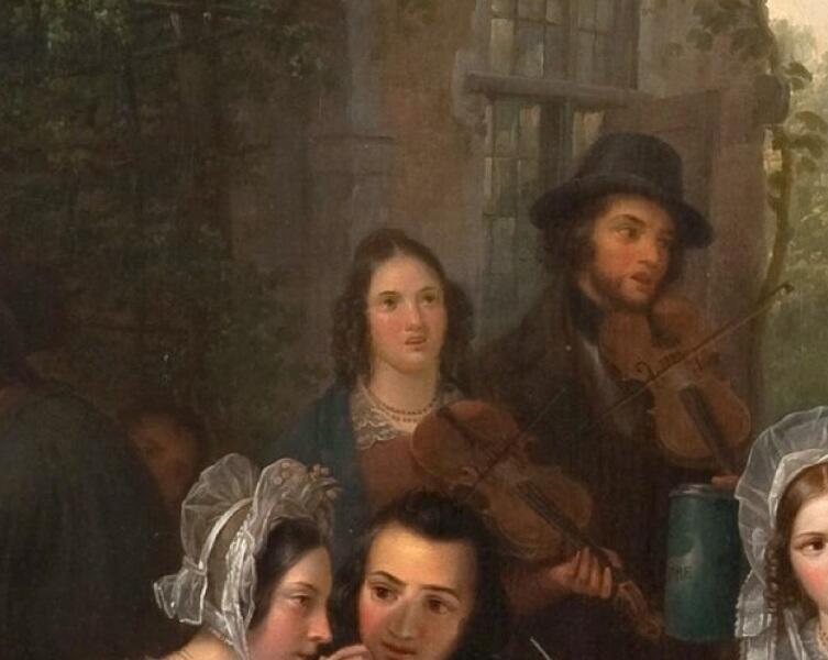 Базиль де Луз, «Праздник в деревне», фрагмент «Музыканты»