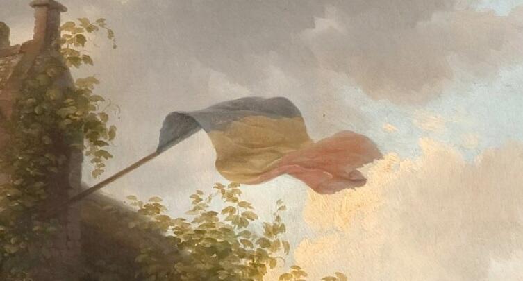 Базиль де Луз, «Праздник в деревне», фрагмент «Государственный флаг»