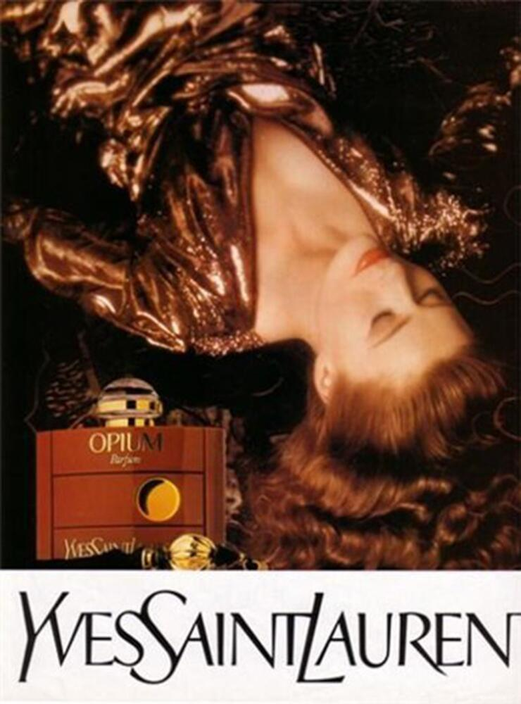 Постер рекламы духов «Opium», 1977г.