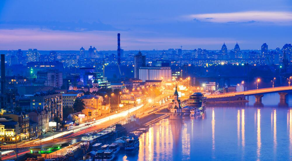 Ночная панорама Киева